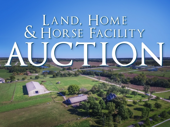 Land, Home & Horse Facility Auction - 20 Acres+/- Offered in 2 Tracts