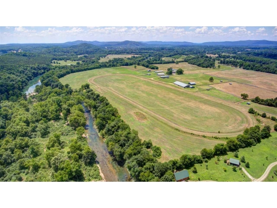 Caddo Mead Farm- 175 acre horse farm with 3/4 mile of Caddo River frontage!