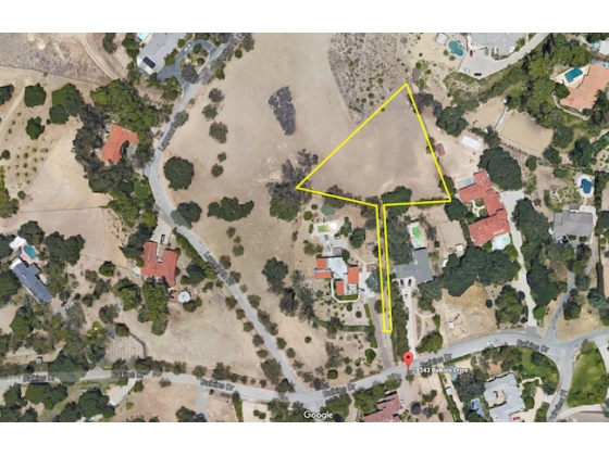 Over 1 acre in private Old Agoura