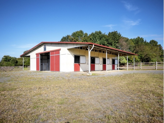 5-6 stall barn w/dutch doors and pasture access