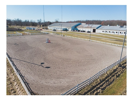 REDUCED! SPRAWLING HORSE FACILITY! 27 AC 43 STALLS INDOOR ARENA W/ HEATED LOUNGE/KITCHEN