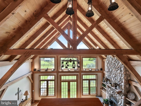 Timber Framed Great Room