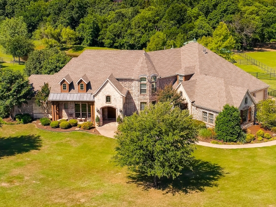 Spectacular custom home in exclusive gated community with pool, 3.352 Ac, & 2-3 stall horse barn