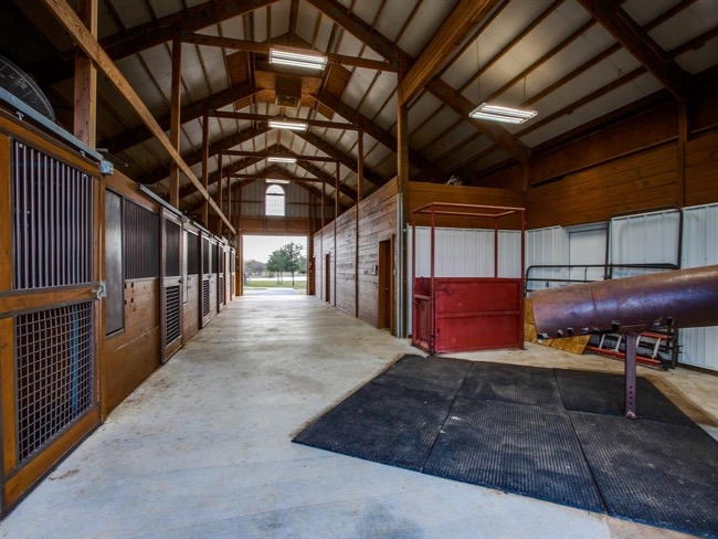 Luxury equestrian estate situated on 50 beautiful acres in Pilot Point Texas