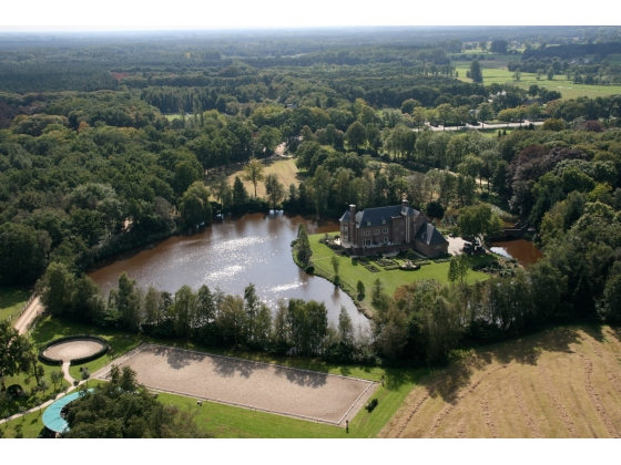 Castle villa on 62 acres with luxury horse facilities