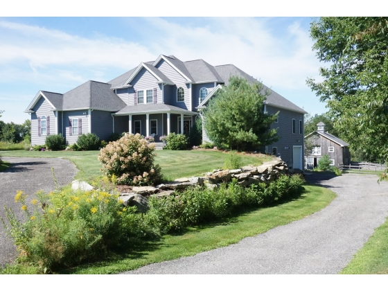 Custom Built 9+ rm Colonial boasts 8.9 usable acres! Barn, 4 plus Garage and More!