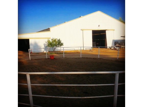 round pen and barn