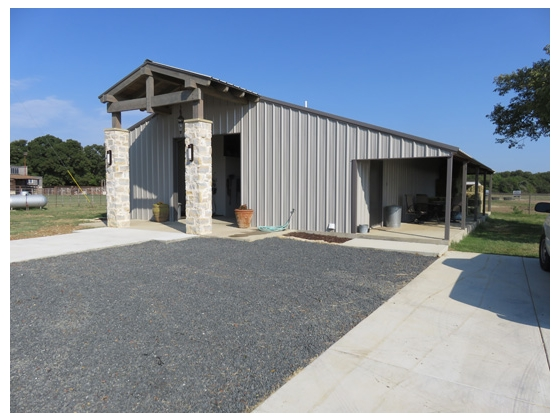 48X40, 5-stall equestrian barn with RV hookup